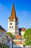 Fortified church in Cisnadie. (Heltau), Transylvania, Romania Stock Images