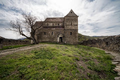 Fortified Church in Cisnadioara Royalty Free Stock Images