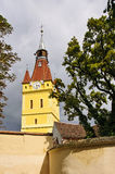 Fortified church in Cristian (Neustadt). Transylvania, Romania Stock Image