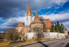 Fortified church of Cristian,Sibiu, Romania Royalty Free Stock Image