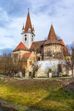 Fortified church of Cristian,Sibiu, Romania royalty free stock photo
