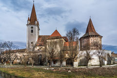 Fortified church of Cristian,Sibiu, Romania. The fortified church of Cristian, Romania, near Sibiu. Southeastern Transylvania in Romania has one of the highest Royalty Free Stock Photography