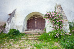 Fortified Church entrace gate at Viscri in Transylvania Royalty Free Stock Photo