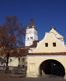 Fortified church of Harman Royalty Free Stock Images