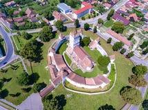 Fortified Church Harman in Transylvania Stock Photo