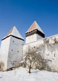 Fortified church of Hosman, Transylvania Royalty Free Stock Photo