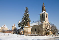 Fortified church of Nocrich, Transylvania Royalty Free Stock Photography