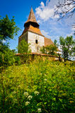 Fortified church in roades, transylvania Royalty Free Stock Photo