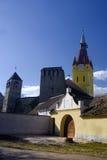Fortified church in Romania stock image