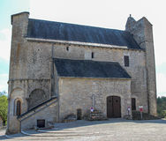 Fortified church of Saint-Julien, Nespouls, Correze, Limousin, France Royalty Free Stock Images