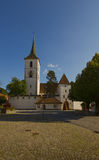 Fortified Church of St Arbogast in the village Muttenz Royalty Free Stock Images