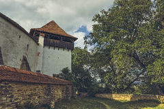 Fortified Church Tower and Defense Walls Stock Photos