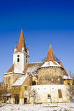 Fortified church in transylvania royalty free stock photo