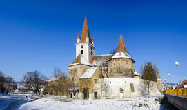 Fortified church in transylvania Stock Photography