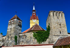Fortified church in Transylvania Stock Photos