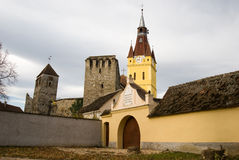 Fortified church in Transylvania Royalty Free Stock Images