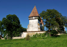 Fortified church in Transylvania, Merghindeal Royalty Free Stock Images