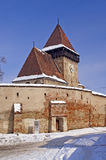 Fortified church in Transylvania Romania Stock Images