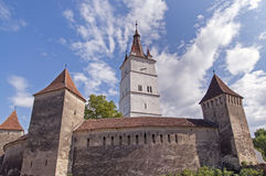 Fortified church in Transylvania, Romania Royalty Free Stock Image