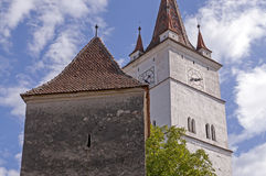 Fortified church in Transylvania, Romania Stock Photo