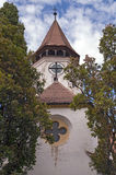 Fortified church in Transylvania, Romania Royalty Free Stock Photography