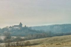 Fortified church Viscri Romania royalty free stock images
