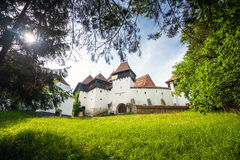 Fortified Church at Viscri in Transylvania Royalty Free Stock Photo