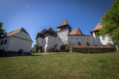 Fortified church in Viscri Royalty Free Stock Photography