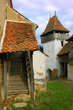 Fortified citadel. View of the old fortified citadel of Viscri. Built by peasants, these citadels are famous for the South Eastern area of Transylvania, built by stock photos