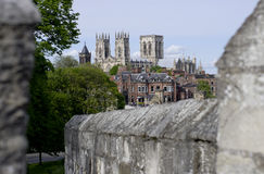 Fortified Cities,York Bar Walls with York Minster in the backgro Royalty Free Stock Photos