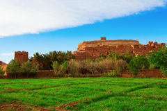 Fortified City with Mud Houses in the Ait Benhaddo Royalty Free Stock Photos