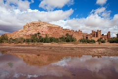 Fortified City with Mud Houses in the Kasbah. Fortified City (Ksar) with Mud Houses in the Kasbah Ait Benhaddou near Ouarzazate, Morocco royalty free stock image