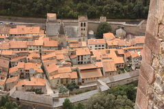 Fortified city of Villefranche-de-Conflent. Languedoc-Roussillon region of France Stock Images