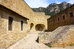 Fortified city of Villefranche de Conflent in Pyrenees Orientales, France Stock Photo