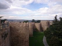 Fortified city walls, Avila, Spain Stock Photography