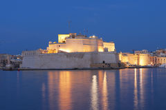 The fortified city walls of Malta Stock Image