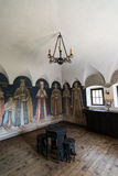 Fortified Cula interior, Maldaresti, Romania Stock Photography