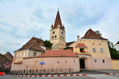 The fortified Evangelical Church from Cisnadie. Royalty Free Stock Photography