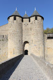 Fortified gate of Carcassonne Stock Image