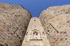 Fortified gate of Carcassonne Royalty Free Stock Photos
