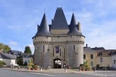 The gate Saint-Julien at La-Ferté-Bernard in France Royalty Free Stock Image