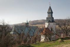 Fortified gothic church in Kurdejov in Moravia in Czech republic Stock Photos