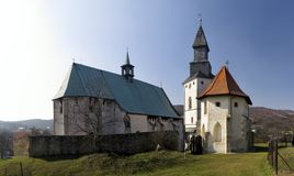 Fortified gothic church in Kurdejov in Moravia in Czech republic Royalty Free Stock Photo