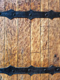 Fortified Hard Wood Medieval Door Texture Stock Photography