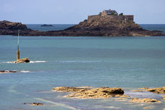 Fortified island off Dinard Royalty Free Stock Photos