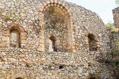Fortified Manasija Monastery. MANASIJA MONASTERY, SERBIA  - MAY 5, 2018 : Serbian medieval fortification, Fortified Manasija Monastery, Editorial use only Stock Images