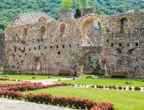 Fortified Manasija Monastery. MANASIJA MONASTERY, SERBIA  - MAY 5, 2018 : Serbian medieval fortification, Fortified Manasija Monastery, Editorial use only Stock Photography