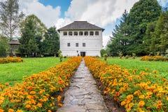The fortified mansion (Cula in romanian) in Maldaresti, Romania Stock Photography