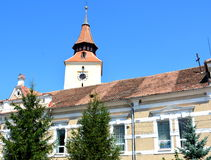 Fortified medieval church in the village Bod, Transylvania Royalty Free Stock Photo
