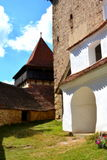 Fortified medieval church in the village Viscri, Transylvania. Royalty Free Stock Image